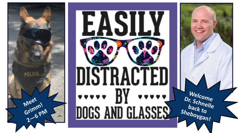 Easily Distracted By Dogs & Glasses Event